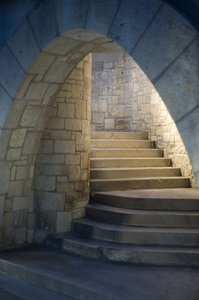 Stairway: Stairs at the Riverwalk in San Antonio.