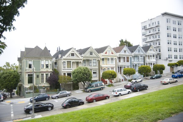 The Painted Ladies: A famous group of houses in San Francisco