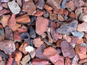 Rock Background: Multi-colored rocks mixed together for background use.