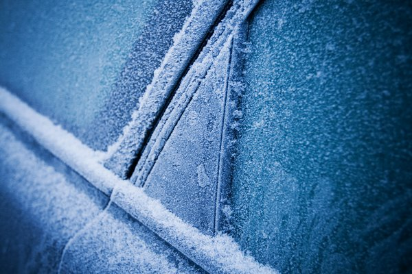 Winter feelings: A frozen car early in the morning