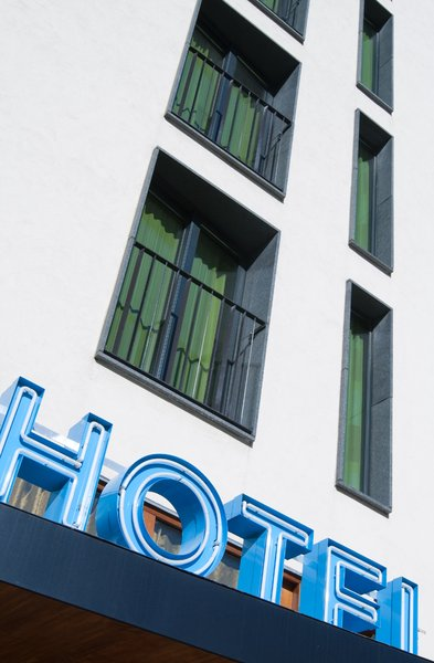 Hotel fasade: A hotel in the centre of Gothenburg, Sweden