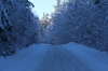 Adirondack winter road: winter road in the Adirondacks