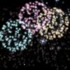 Fireworks with stars: Here is a background made it with fireworks and with stars with a black background