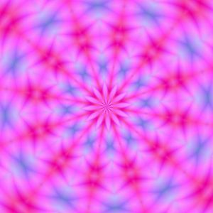 Kaleidoscope background: Pink and blue Kaleidoscope background