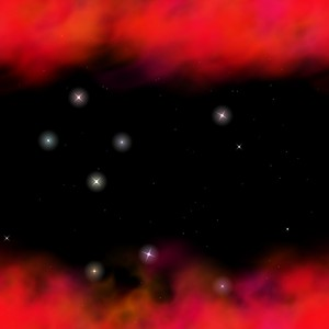 Star smokey background: Star smokey red background