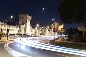 Avignon, Provence: Night Scene at Avignon