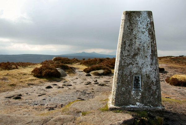 Monolith: Old trig point in Derbyshire. Reminds me of