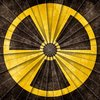 Nuclear Grunge Symbol: Grunge textured nuclear symbol with a shaded starburst pattern to create more depth and contrast.