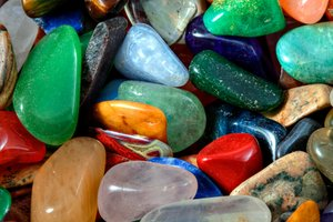 Colorful Stones Texture - HDR: Textured close-up of multicolored stones. HDR composite from multiple exposures.