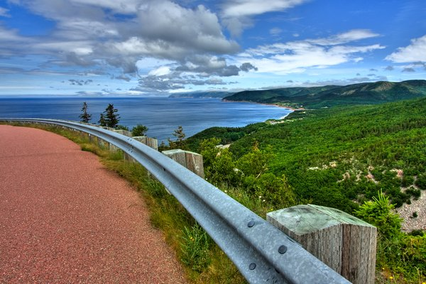 Cabot Trail Scenery - HDR: Wide-angle scenery from the Cabot Trail in Cape Breton, Nova Scotia (Canada). HDR composite from multiple exposures.