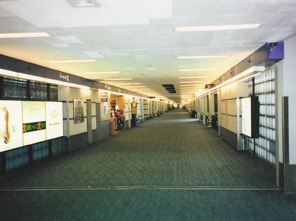 Does anyone travel anymore?: An Empty Airport near Detroit, MI