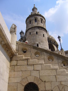 Fisherman's Bastion, Budapest : The famous Fisherman's Bastion is a neo-Gothic folly built on Buda's Castle Hill in 1905. It affords stunning views over the River Danube and Pest.