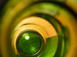 Swirls 4: This is a view into an empty beer bottle - I like the colours and lighting, and felt it might be a useful and interesting texture.