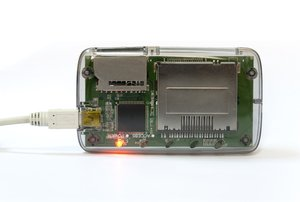 USB card reader: USB card reader with power light on