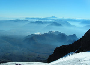 view from the top: volcano villarica, chile