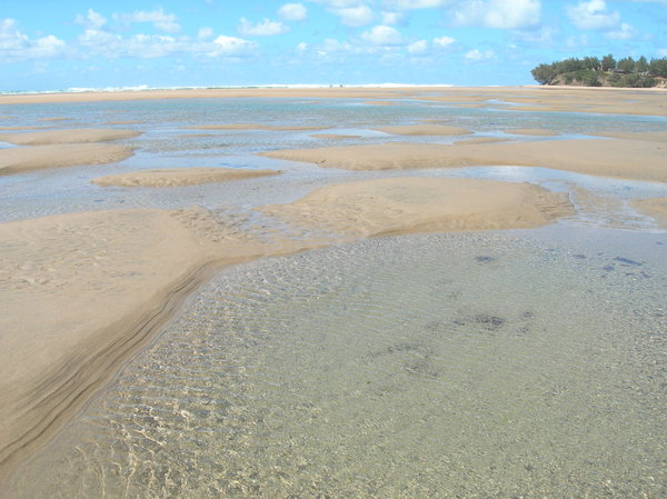crystal water: photo taken in Mozambique