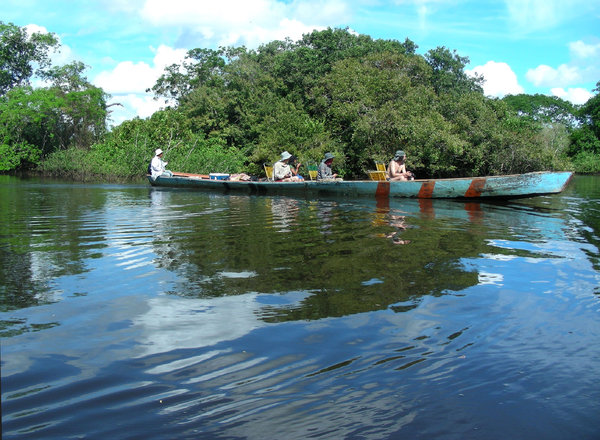 in the boat: river Yacuma, Bolivia