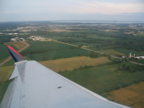 View From Above 5: Taken just after departing from Outagamie County Regional Airport, Appleton, Wisconsin.  July 2005.  Please let me know if you are able to use my pictures for something.Even if it's something small --I would be absolutely thrilled to know if they came in