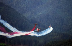 Acrobatic jet airplane, airpla: Acrobatic jet airplane, airplanes flyby