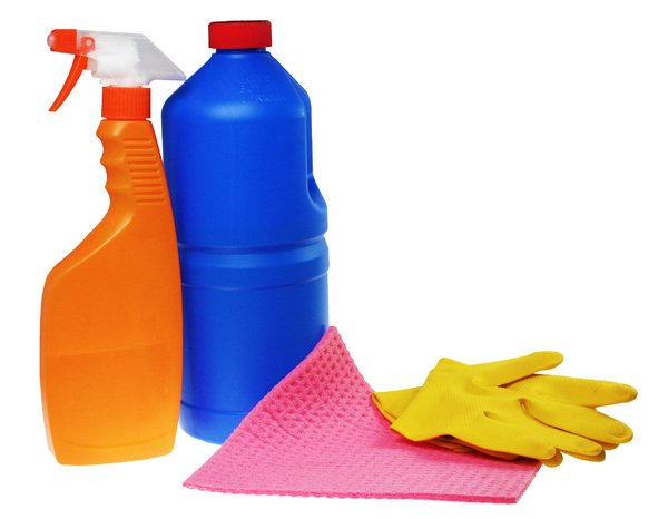 Cleaning products: Various cleaning products