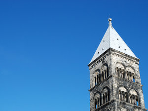 church tower: church tower, Lund, Sweden