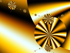 Golden Disks: Golden Disks created using UltraFractal 4.My other fractals:http://www.sxc.hu/browse. ..