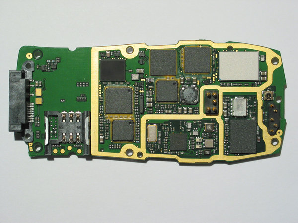 mobile phone circuit board: Mobile phone circuit board. Logos, serials etc on the circuits that can be related to companies have been removed according to SXC policy.