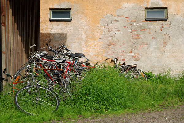 Compact bike parking: Compact bike parking, Lund, Sweden.