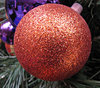 Christmas colours: Christmas tree baubles and decorations