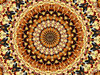 pizza layers mandala: abstract backgrounds, textures, patterns, geometric patterns, kaleidoscopic patterns, circles, shapes and  perspectives from altering and manipulating images