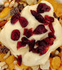 breakfast3: a gluten-free cereal muesli breakfast with cranberries and yoghurt