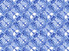 ethnic blue2C: abstract ethnic background, texture, patterns and perspectives