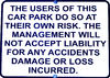 the risk is yours1b: shopping centre carpark warning sign