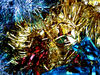 not all that glitters9: Christmas tinsel decorations