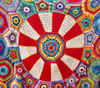 crochet colors1: colourful carousel crocheted blanket based on free design & pattern by Sue Pinner