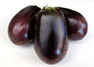 eggplant: various eggplants or aubergines