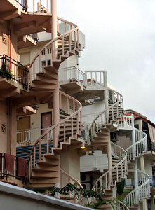 circular stairs: external circular stairs - fire escapes