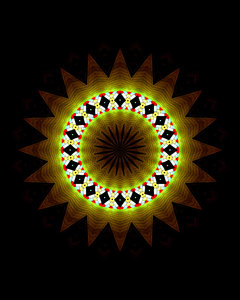 light circle out of the dark: abstract backgrounds, textures, patterns, geometric patterns, kaleidoscopic patterns, circles, shapes and perspectives from altering and manipulating image