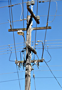 wired up: electricity poles, transformers and wiring