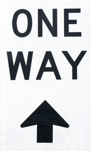 only one way: one way street signs