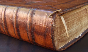 old Dutch Bible 4: large antique leather bound Bible