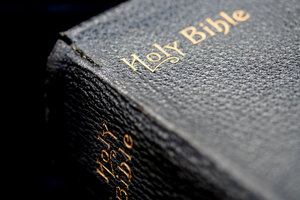 Black Bible: Corner of old Black Bible