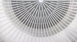 plastic patterns: the lines and patterns of a white plastic basket