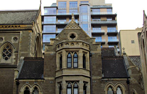 architectural contrasts: contrasting historic and modern architectural styles