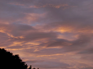 evening sky colour3: Southern sunset  clouds
