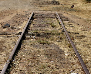 end of the line1: abandoned and disused railway line in  Central Australia