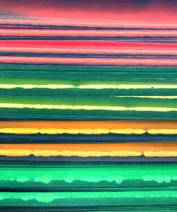 edgy colours5: colourful edges of a stack of photocopy film for overhead transparencies