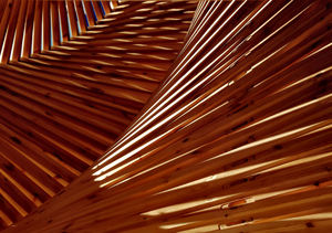 angular perspectives4: abstract wooden angular  structure