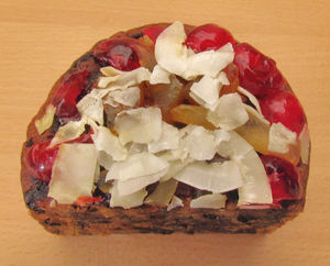 Christmas pudding3: tasty decorated Christmas fruit pudding
