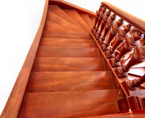 staircase angles3: wooden staircase in old historic rural building